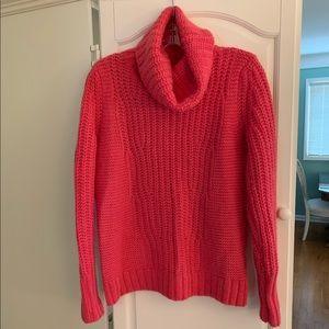 Banana Republic Pink Turtleneck, Wool Sweater